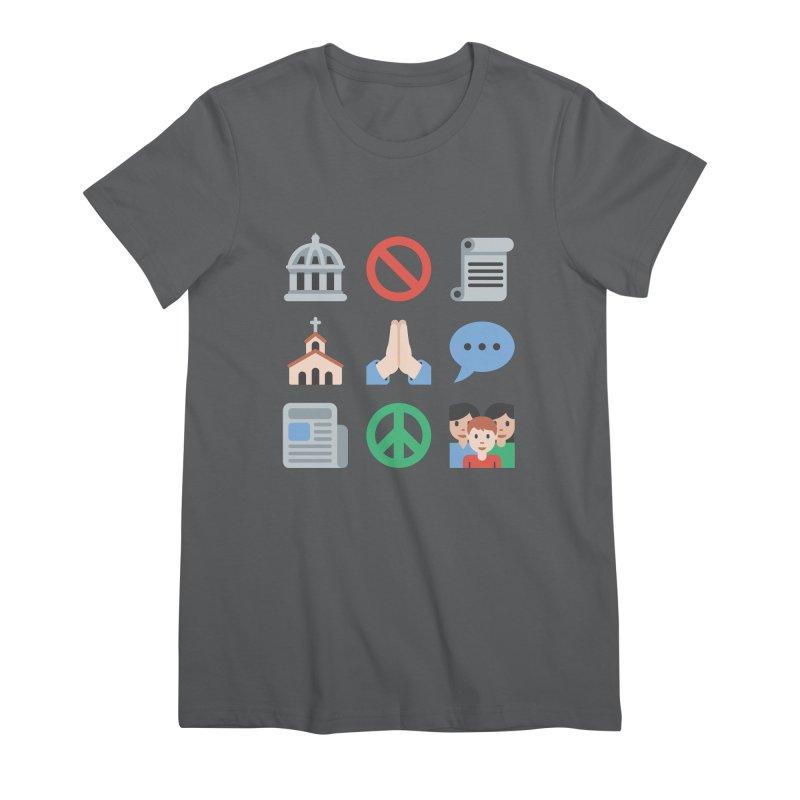 First Emojiment Women's T-Shirt by Techdirt Gear