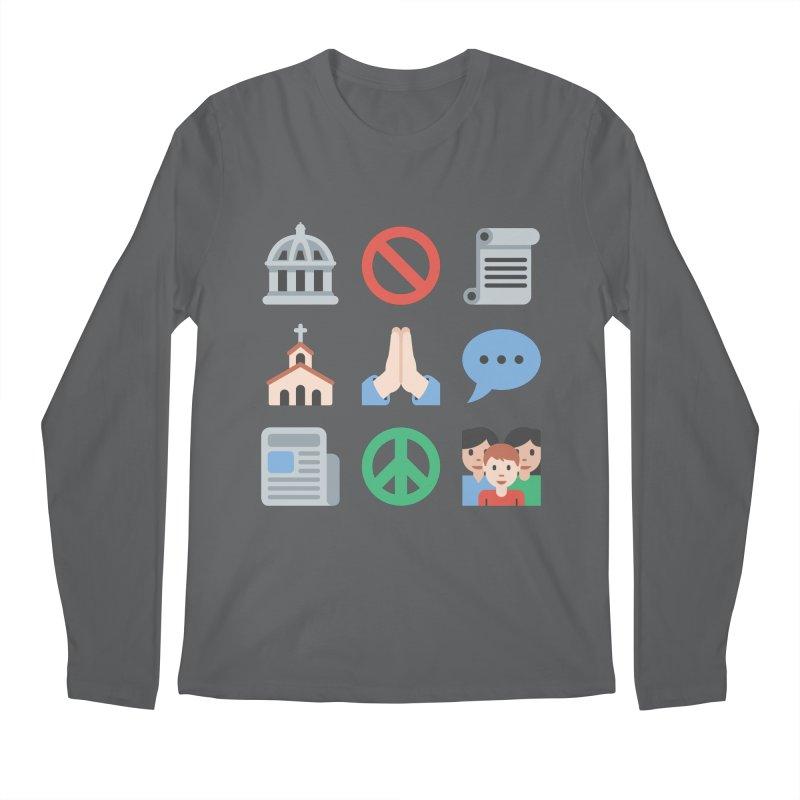 First Emojiment Men's Longsleeve T-Shirt by Techdirt Gear
