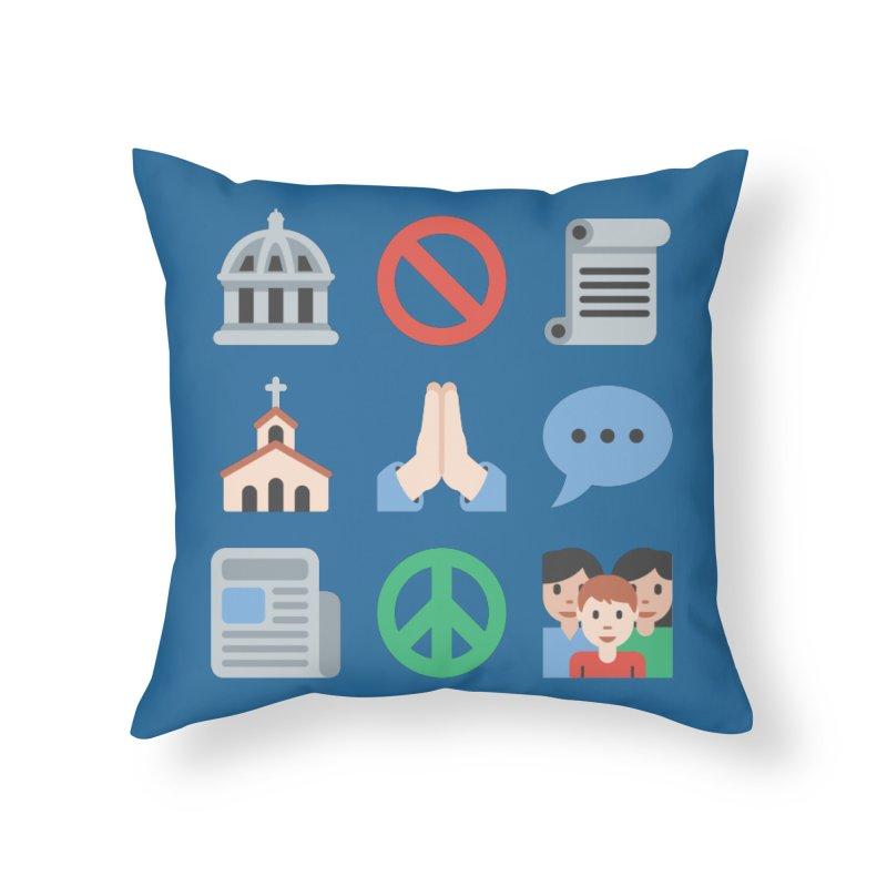 First Emojiment Home Throw Pillow by Techdirt Gear