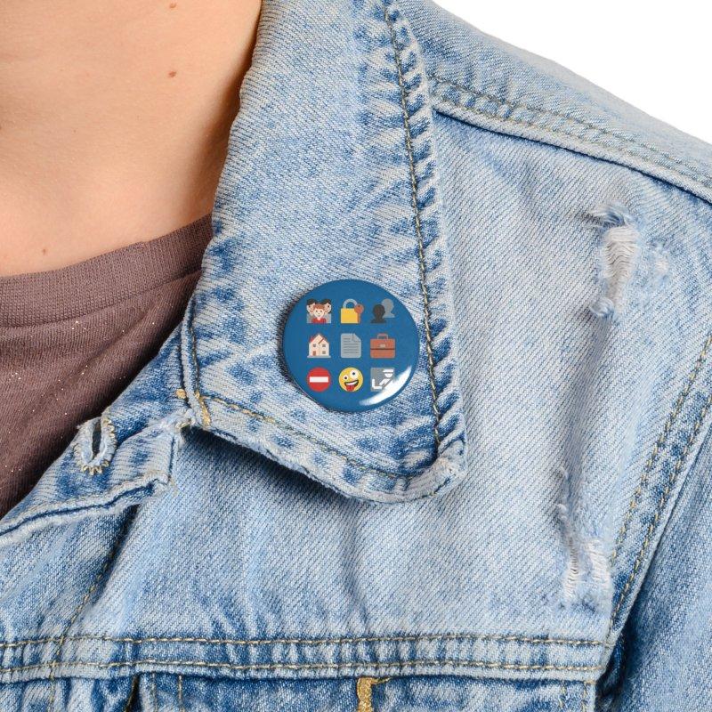 Fourth Emojiment Accessories Button by Techdirt Gear