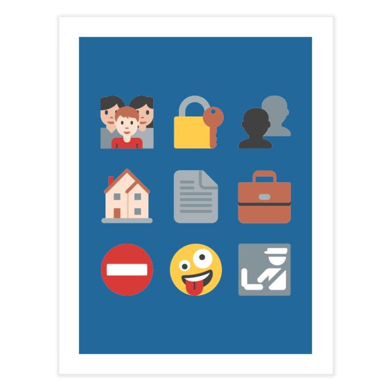 Fourth Emojiment Home Fine Art Print by Techdirt Gear