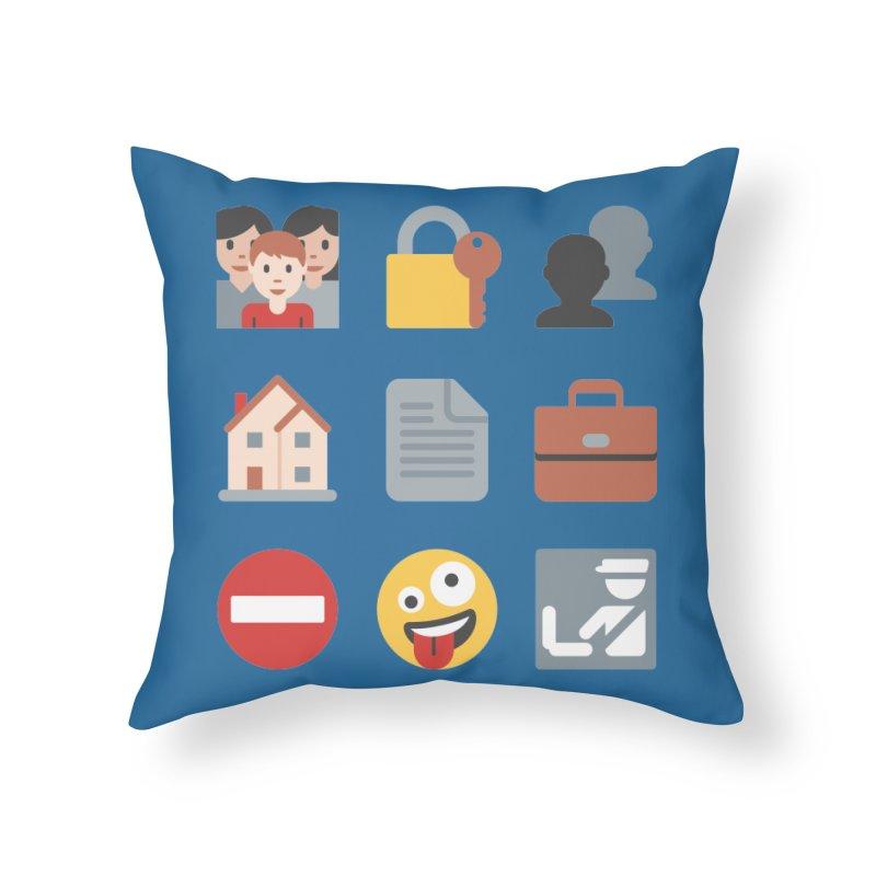 Fourth Emojiment Home Throw Pillow by Techdirt Gear