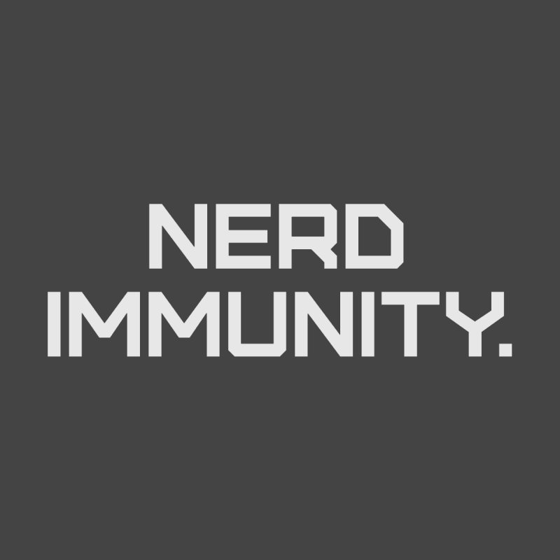 Nerd Immunity Accessories Face Mask by Techdirt Gear