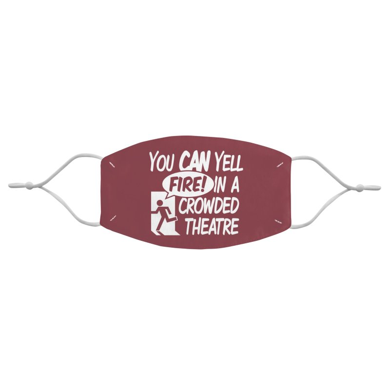 Fire In A Crowded Theatre Accessories Face Mask by Techdirt Gear