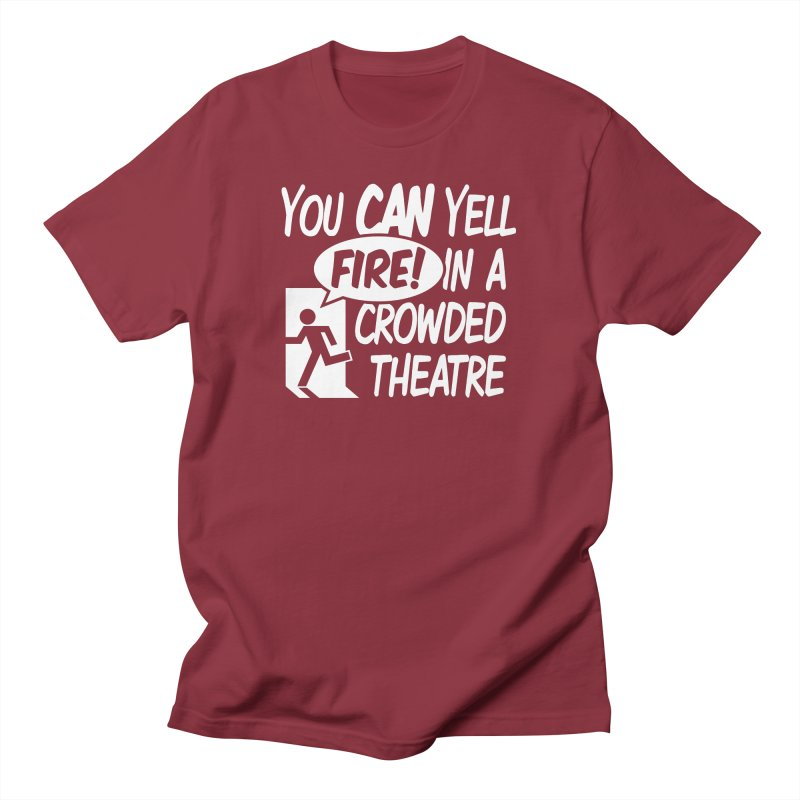 Fire In A Crowded Theatre Men's T-Shirt by Techdirt Gear