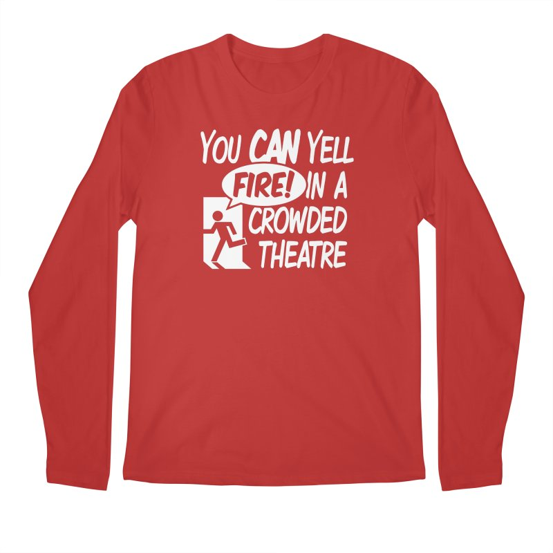 Fire In A Crowded Theatre Men's Longsleeve T-Shirt by Techdirt Gear