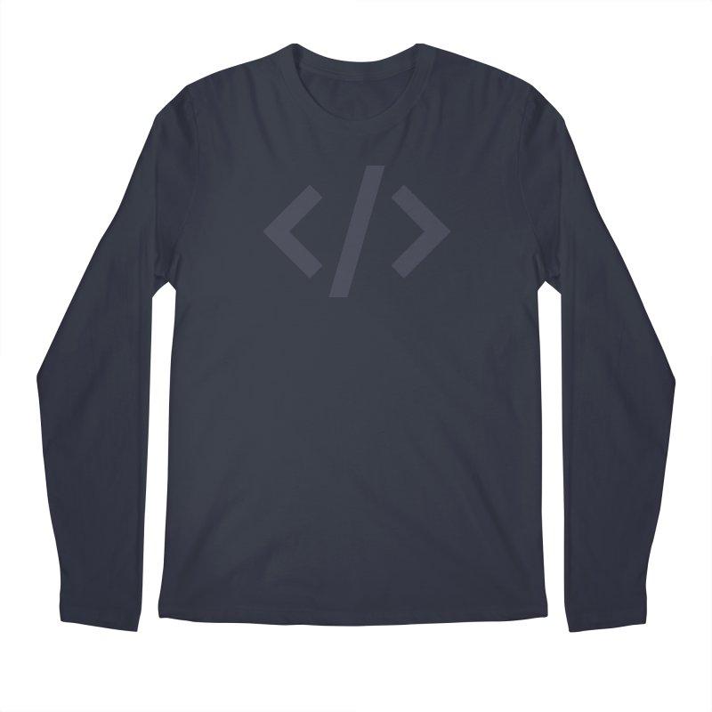 Code - Gray Men's Regular Longsleeve T-Shirt by TechMasters Swag Shop