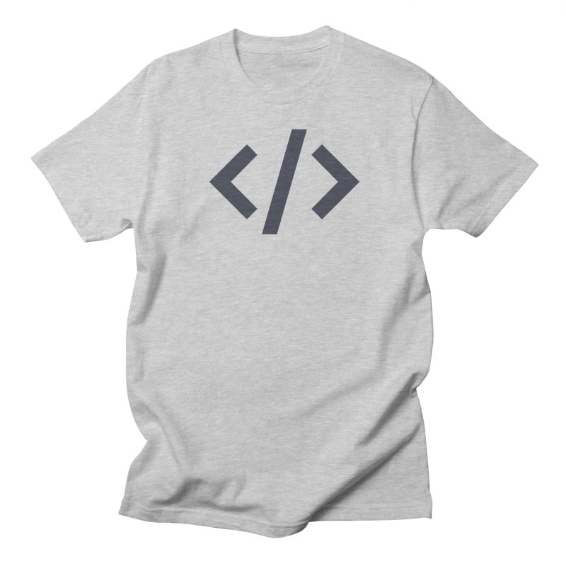 Code - Gray Men's Regular T-Shirt by TechMasters Swag Shop