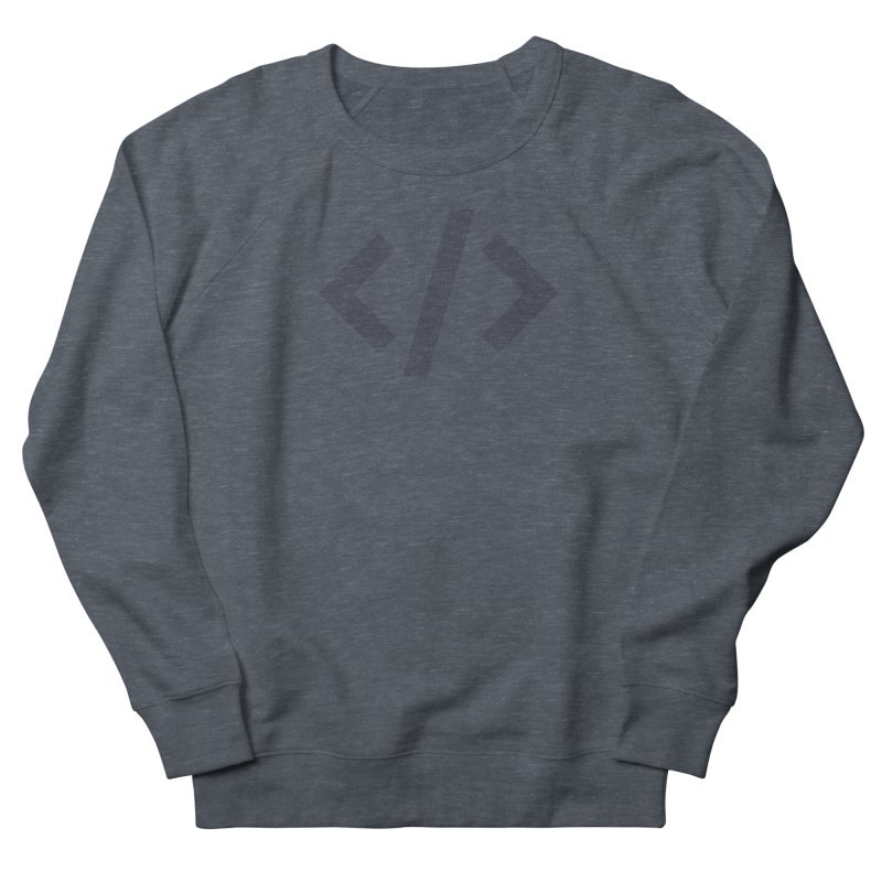 Code - Gray Women's French Terry Sweatshirt by TechMasters Swag Shop