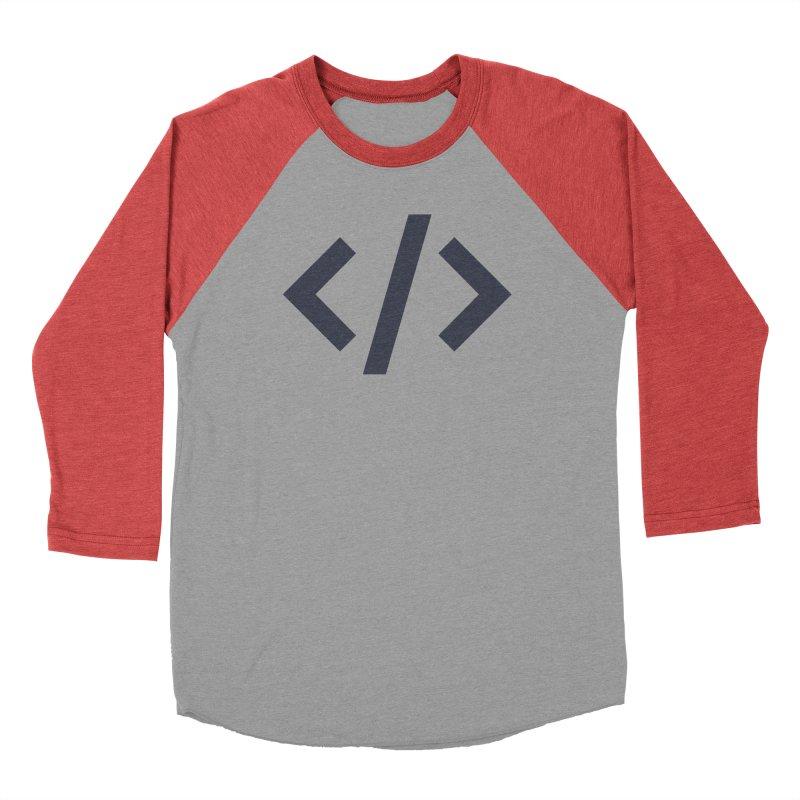 Code - Gray Men's Baseball Triblend Longsleeve T-Shirt by TechMasters Swag Shop