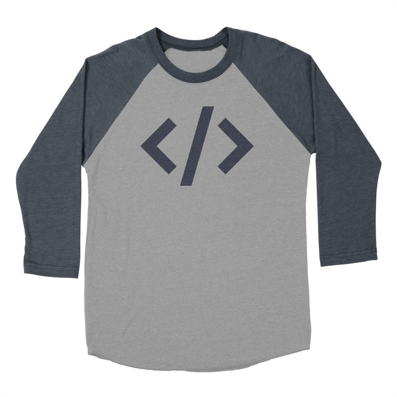 Code - Gray Men's Baseball Triblend Longsleeve T-Shirt by TechMasters Swag Shop