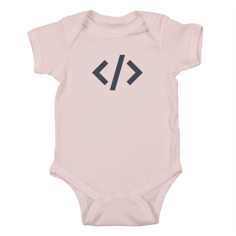 Code - Gray Kids Baby Bodysuit by TechMasters Swag Shop