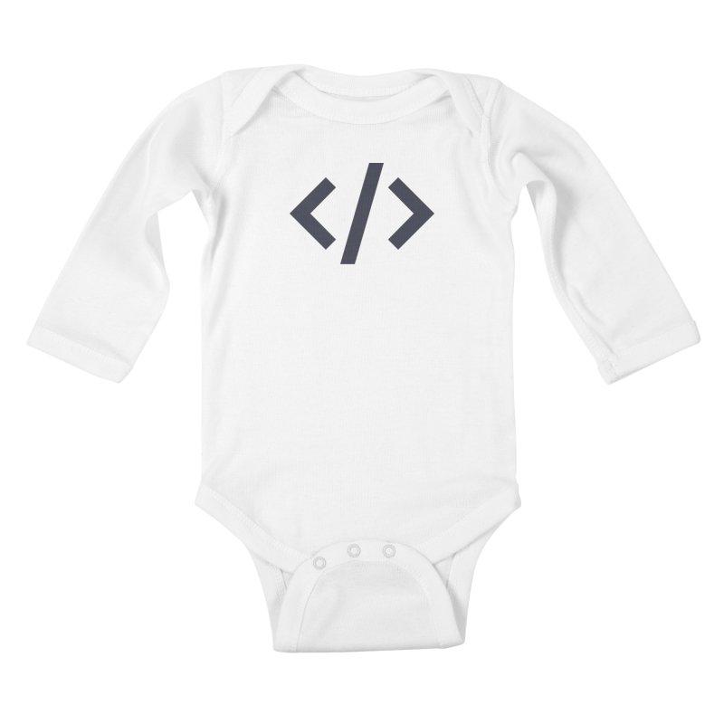 Code - Gray Kids Baby Longsleeve Bodysuit by TechMasters Swag Shop