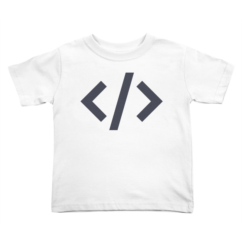 Code - Gray Kids Toddler T-Shirt by TechMasters Swag Shop
