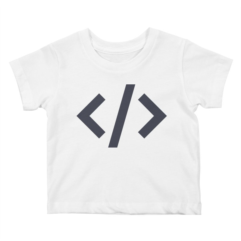 Code - Gray Kids Baby T-Shirt by TechMasters Swag Shop