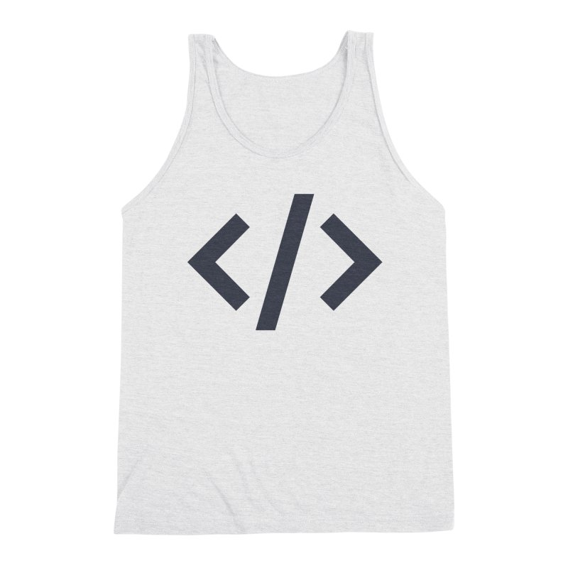 Code - Gray Men's Triblend Tank by TechMasters Swag Shop