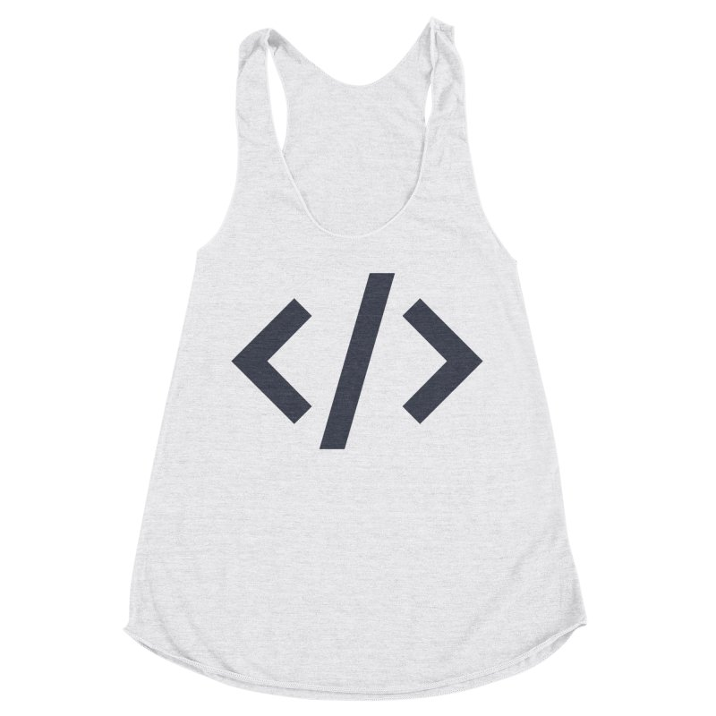 Code - Gray Women's Racerback Triblend Tank by TechMasters Swag Shop
