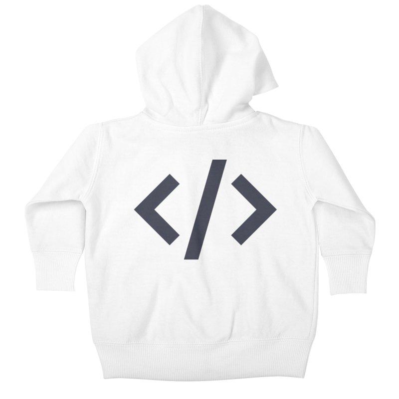 Code - Gray Kids Baby Zip-Up Hoody by TechMasters Swag Shop