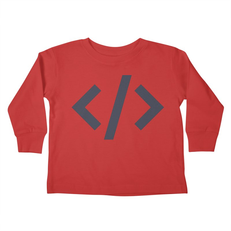 Code - Gray Kids Toddler Longsleeve T-Shirt by TechMasters Swag Shop