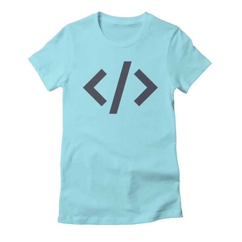 Code - Gray Women's Fitted T-Shirt by TechMasters Swag Shop