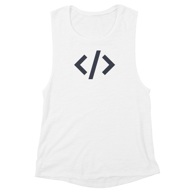 Code - Gray Women's Muscle Tank by TechMasters Swag Shop