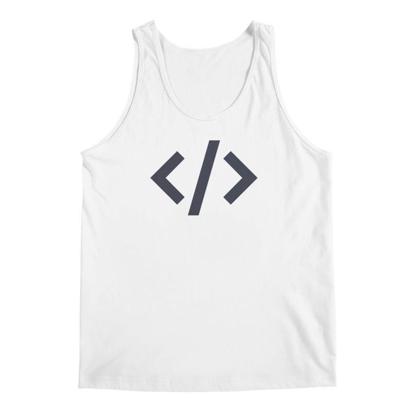 Code - Gray Men's Regular Tank by TechMasters Swag Shop