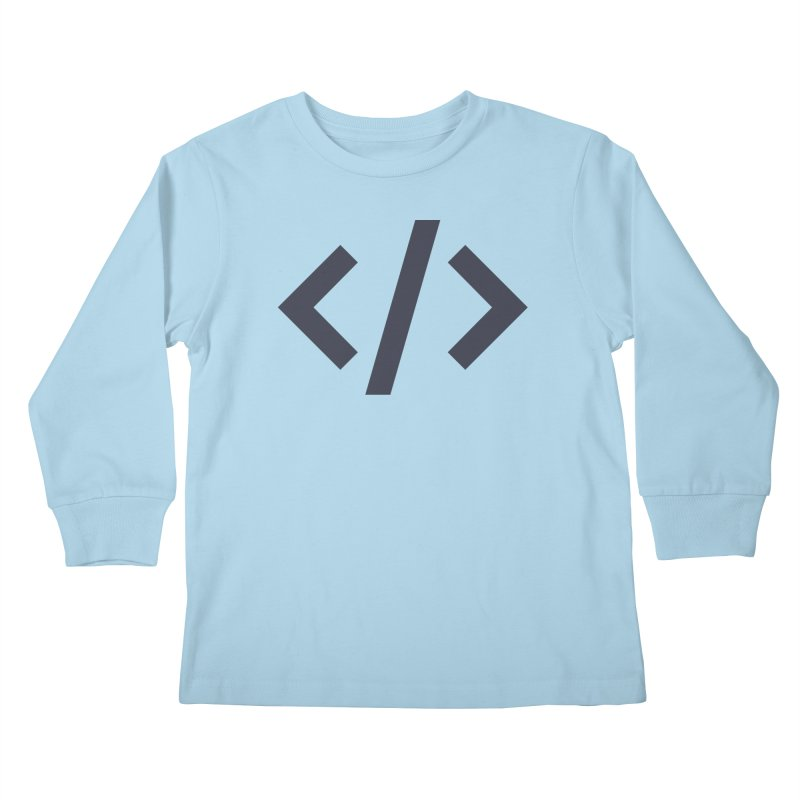 Code - Gray Kids Longsleeve T-Shirt by TechMasters Swag Shop