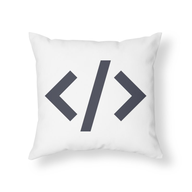 Code - Gray Home Throw Pillow by TechMasters Swag Shop