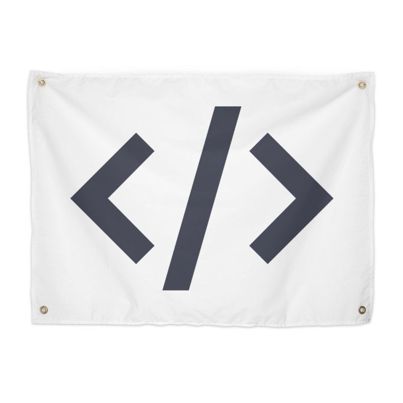 Code - Gray Home Tapestry by TechMasters Swag Shop