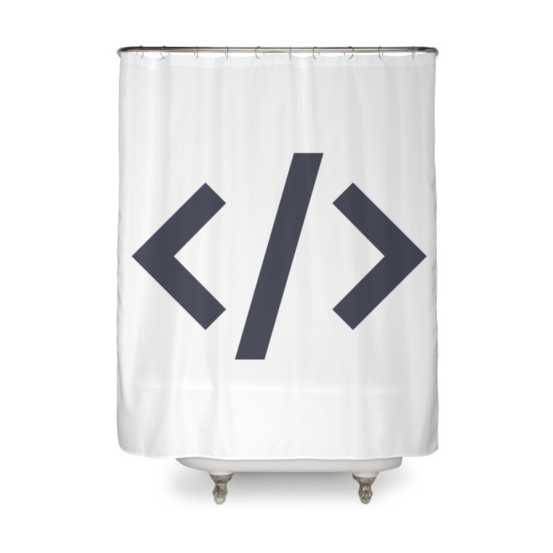 Code - Gray Home Shower Curtain by TechMasters Swag Shop