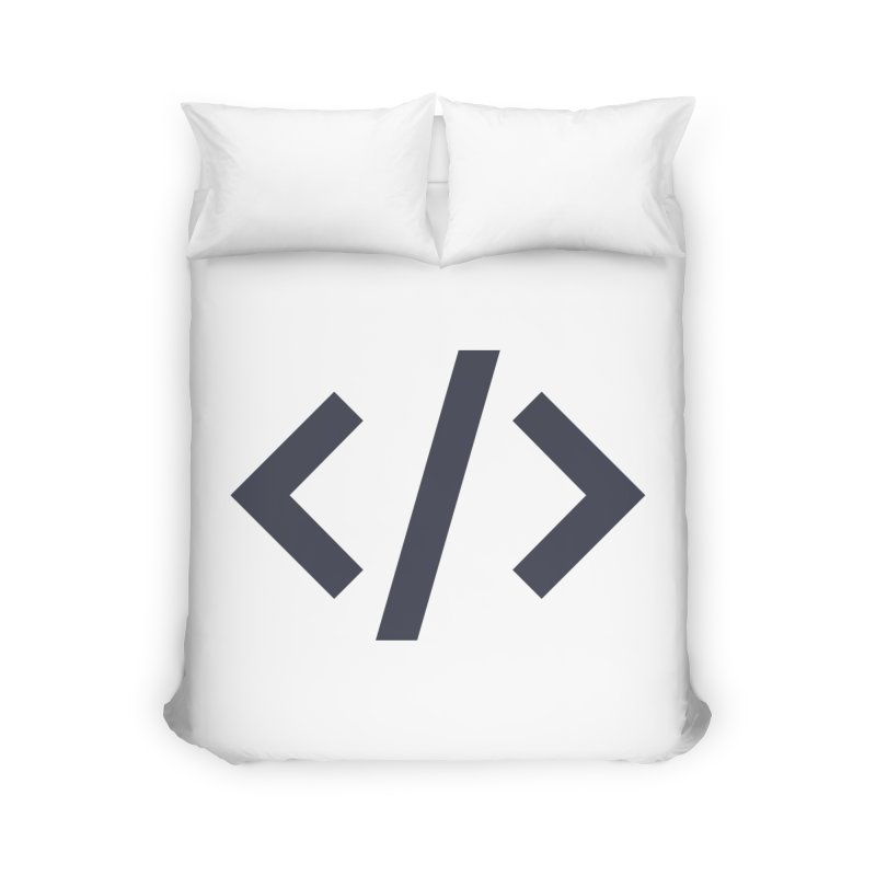 Code - Gray Home Duvet by TechMasters Swag Shop