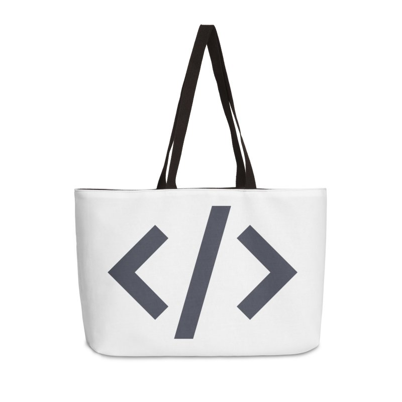 Code - Gray Accessories Weekender Bag Bag by TechMasters Swag Shop