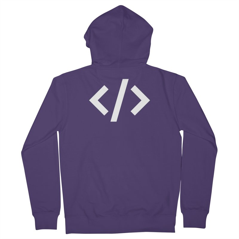 Code - White Women's French Terry Zip-Up Hoody by TechMasters Swag Shop