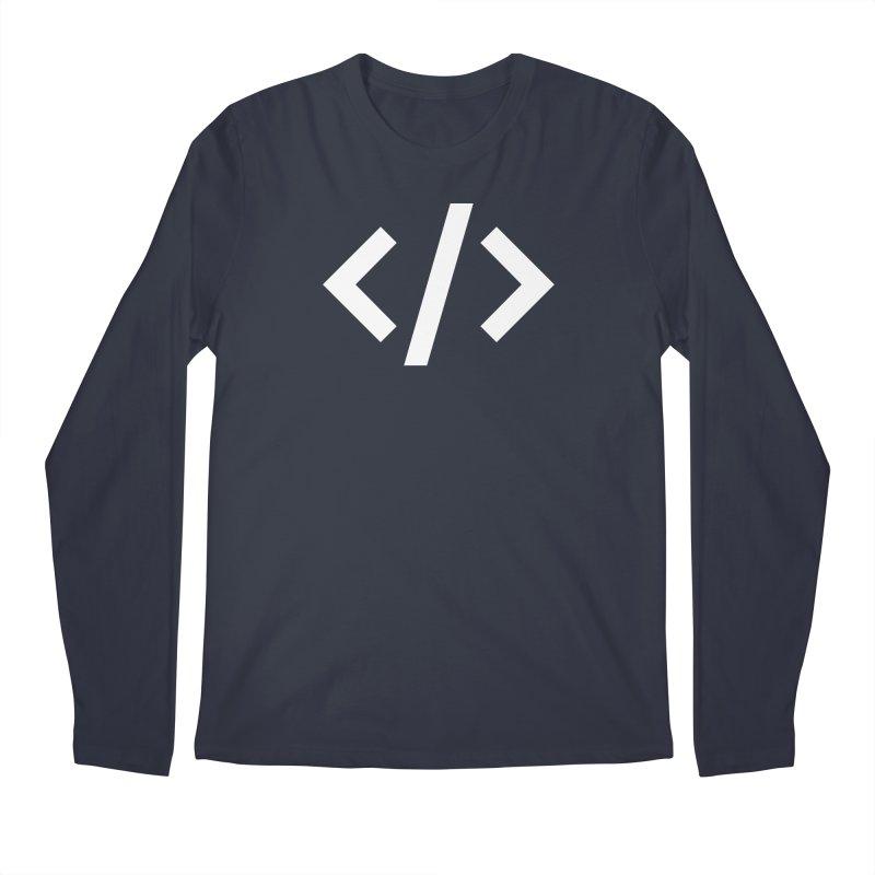 Code - White Men's Regular Longsleeve T-Shirt by TechMasters Swag Shop
