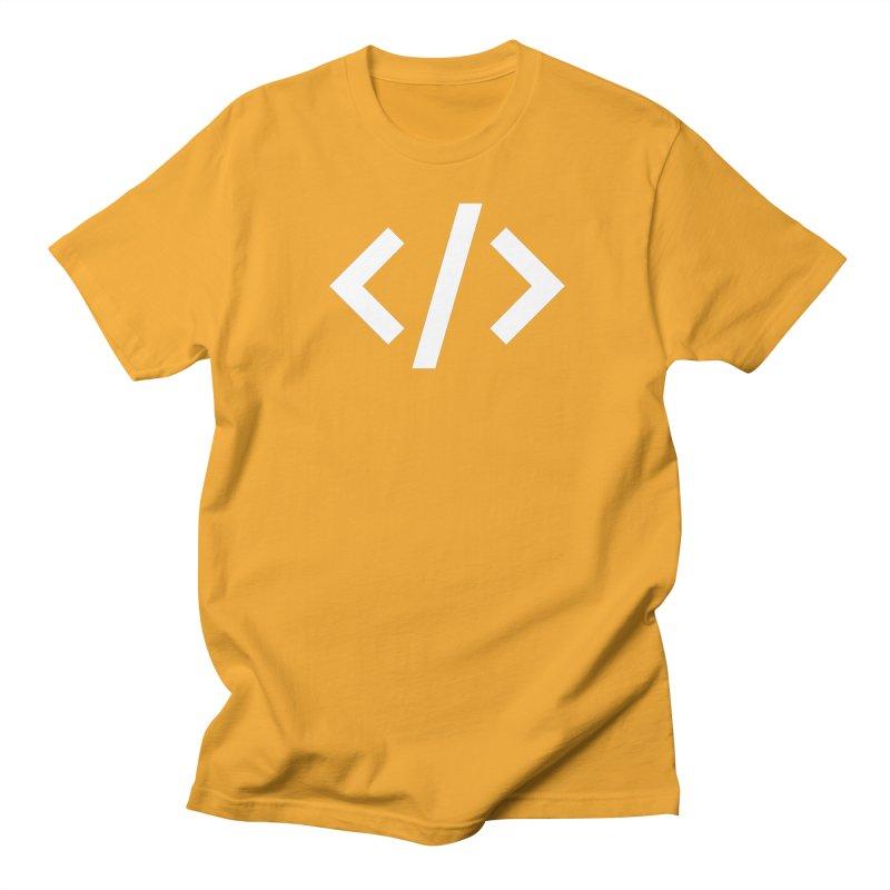 Code - White Women's Regular Unisex T-Shirt by TechMasters Swag Shop