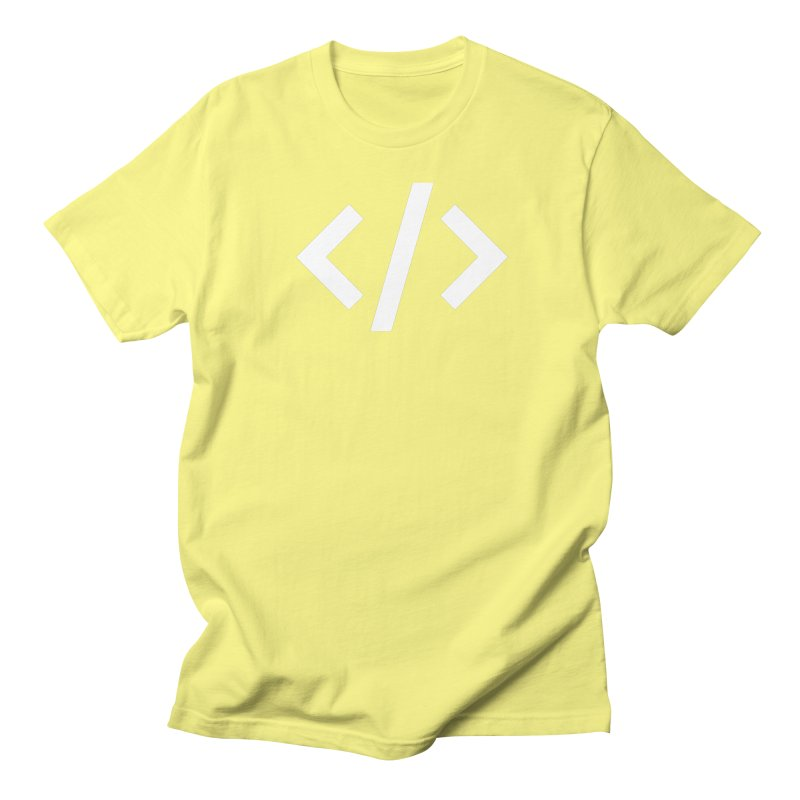Code - White Men's Regular T-Shirt by TechMasters Swag Shop