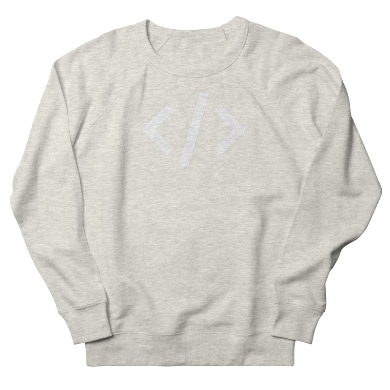 Code - White Women's French Terry Sweatshirt by TechMasters Swag Shop