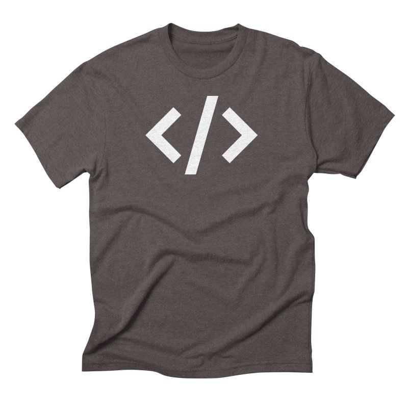 Code - White Men's Triblend T-Shirt by TechMasters Swag Shop