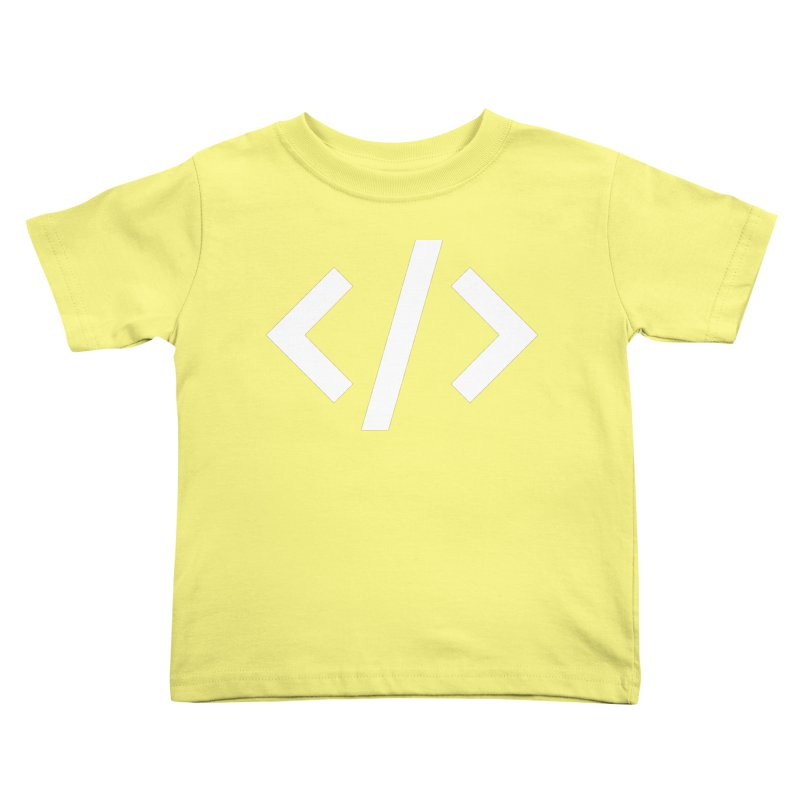 Code - White Kids Toddler T-Shirt by TechMasters Swag Shop