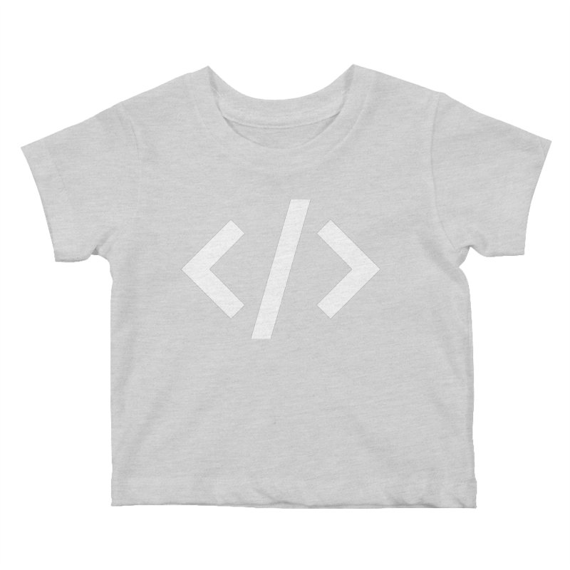 Code - White Kids Baby T-Shirt by TechMasters Swag Shop