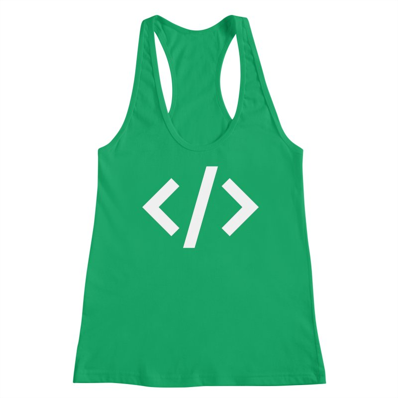 Code - White Women's Tank by TechMasters Swag Shop