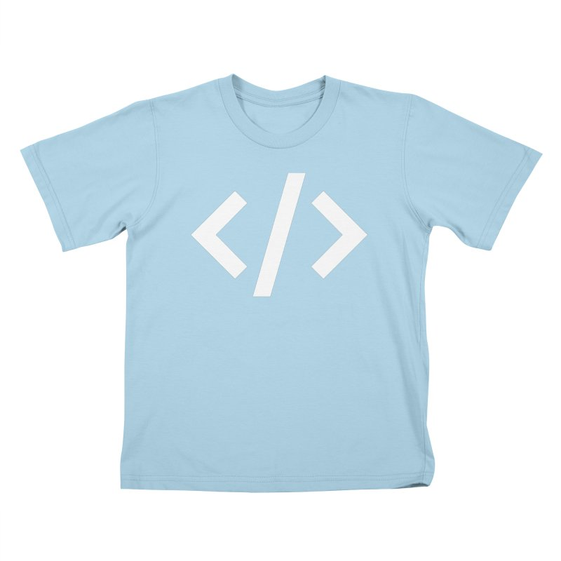 Code - White Kids T-Shirt by TechMasters Swag Shop