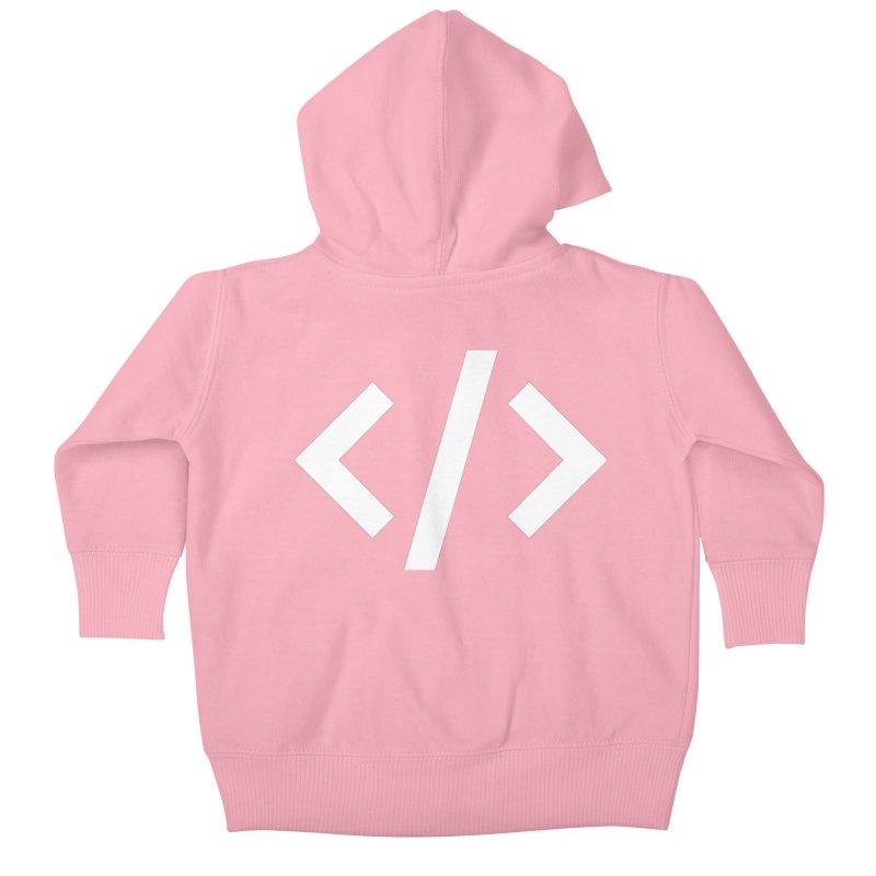 Code - White Kids Baby Zip-Up Hoody by TechMasters Swag Shop