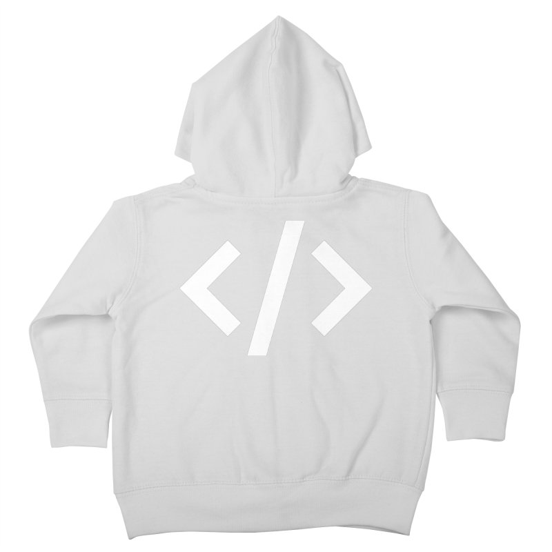 Code - White Kids Toddler Zip-Up Hoody by TechMasters Swag Shop