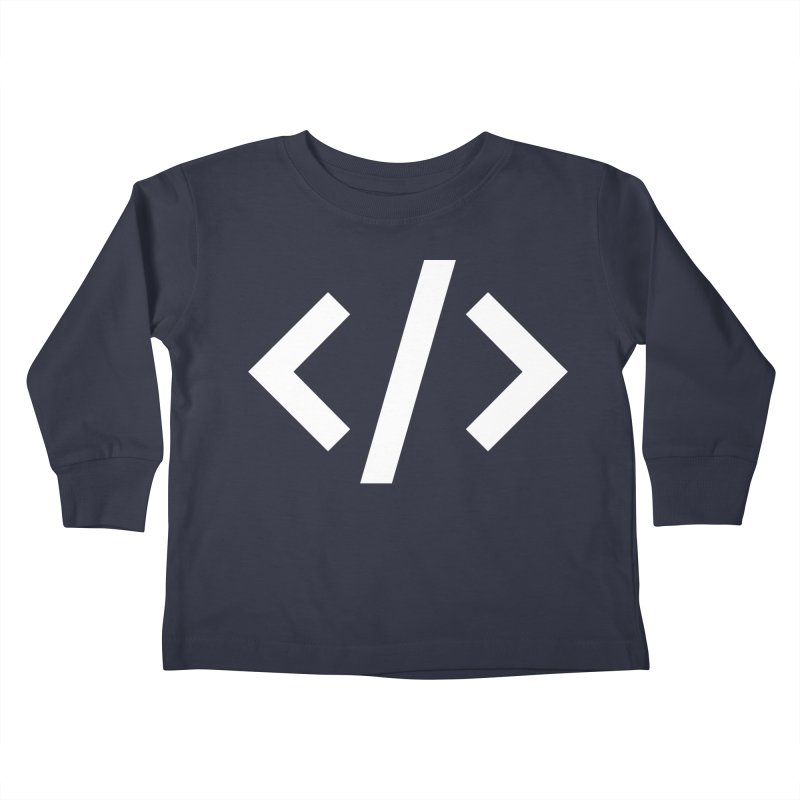 Code - White Kids Toddler Longsleeve T-Shirt by TechMasters Swag Shop