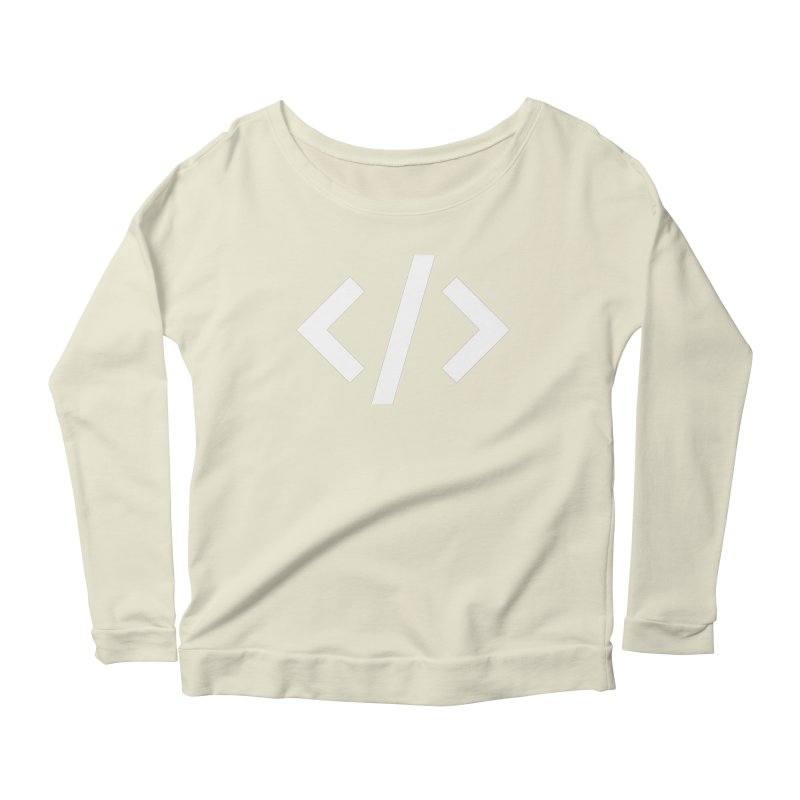 Code - White Women's Scoop Neck Longsleeve T-Shirt by TechMasters Swag Shop