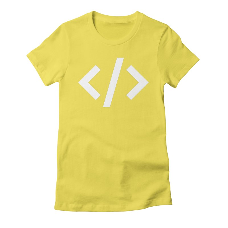 Code - White Women's Fitted T-Shirt by TechMasters Swag Shop