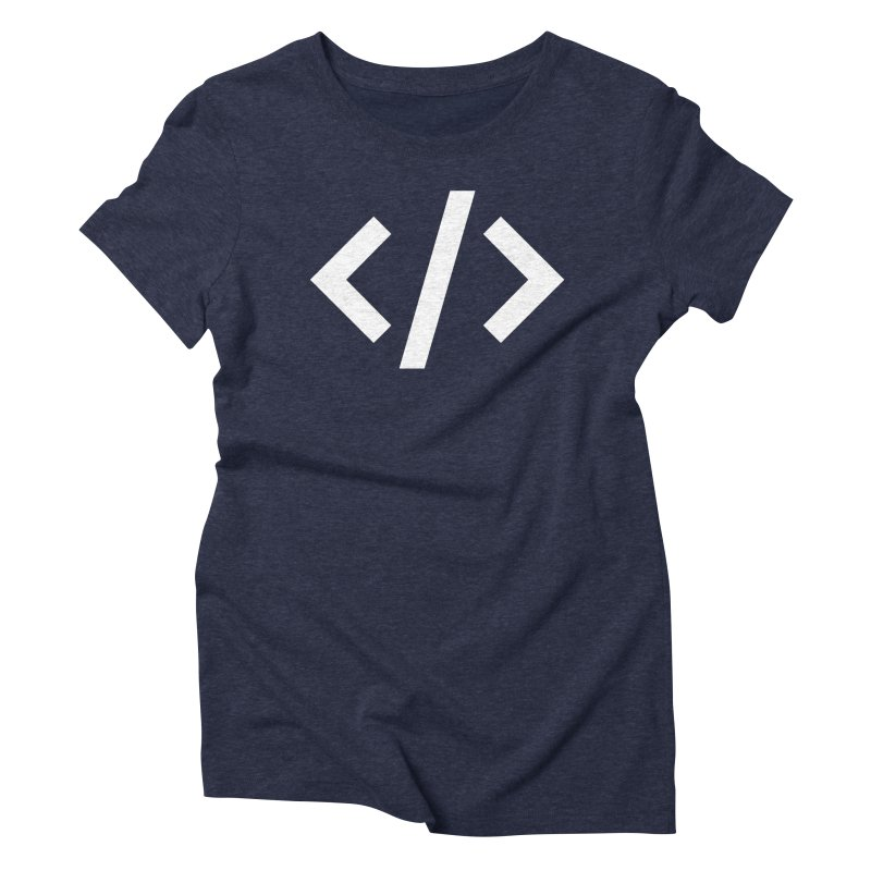 Code - White Women's Triblend T-Shirt by TechMasters Swag Shop