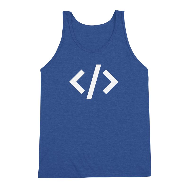 Code - White Men's Triblend Tank by TechMasters Swag Shop