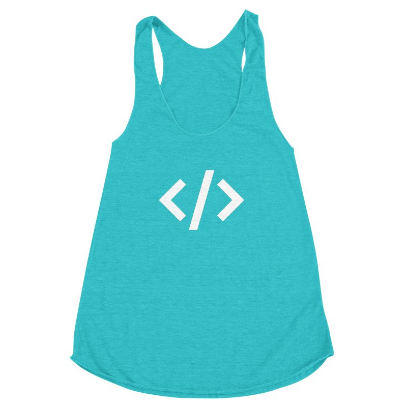 Code - White Women's Racerback Triblend Tank by TechMasters Swag Shop